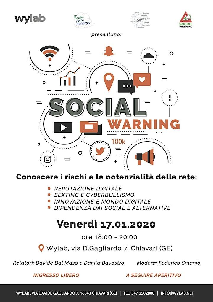Immagine SOCIAL WARNING: ALLA SCOPERTA DI RISCHI E POTENZIALITÀ DELLA RETE