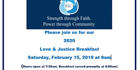 Annual Love & Justice Breakfast tickets