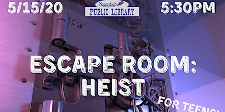 Escape Room: Heist (ages 10-19 years) tickets