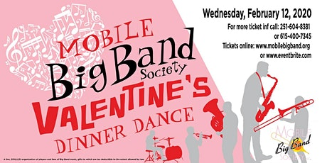 2020 Mobile Big Band Society Valentine Dinner Dance tickets