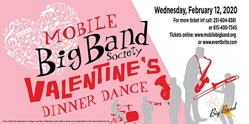 2020 Mobile Big Band Society Valentine Dinner Dance
