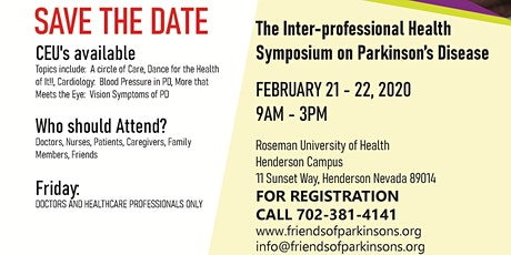 The Inter-Professional Health Symposium on Parkinson's Disease tickets