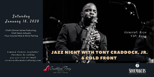 Jazz night with Tony Craddock, Jr. & Cold Front