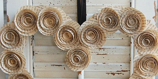 Paper Rose Wreath Workshop