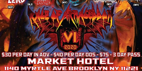Rage of Armageddon 6 - Night Three tickets