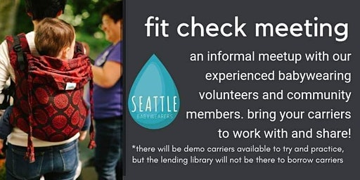 Seattle Babywearers March Fit Check @ Issaquah Library