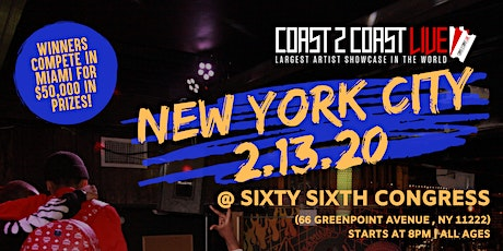 Coast 2 Coast LIVE Artist Showcase NYC Edition - $50K in Prizes! tickets