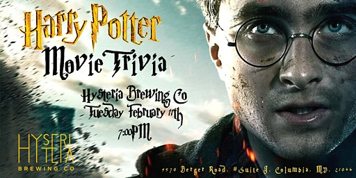 Harry Potter Movie Trivia at Hysteria Brewing Company