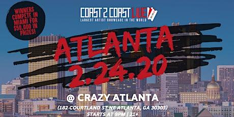Coast 2 Coast LIVE Artist Showcase Atlanta Edition - $50K in Prizes! tickets