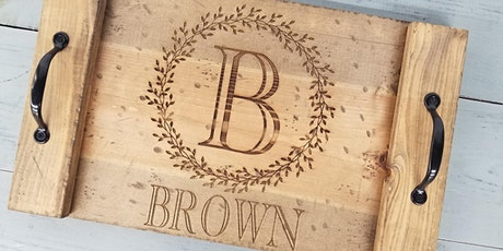 Wellington Engraved Name Tray Workshop tickets