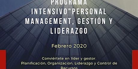 """Programa intensivo """"Personal Management, gestión & entradas"""