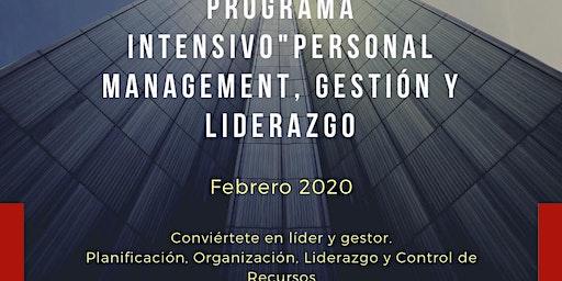 """Programa intensivo """"Personal Management, gestión &"""