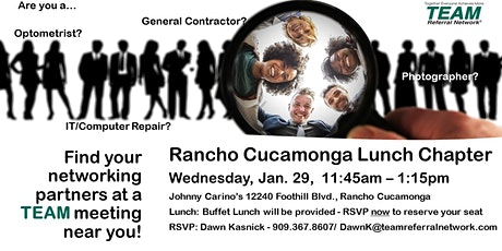 Rancho Cucamonga Lunch Chapter - Invitation Day tickets