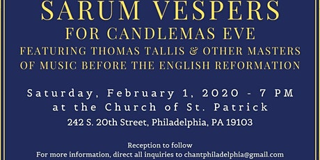 Sarum Vespers for Candlemas Eve tickets