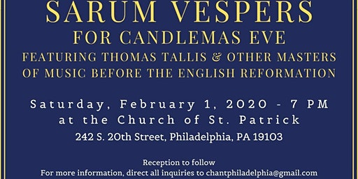 Sarum Vespers for Candlemas Eve