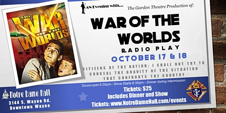 War of the Worlds - Radio Play tickets