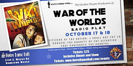 War of the Worlds - Radio Play - Matinee tickets