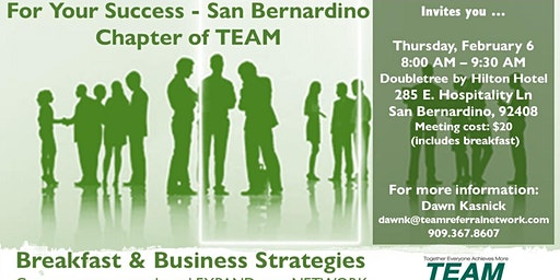 For Your Success - San Bernardino Chapter Invitation Day