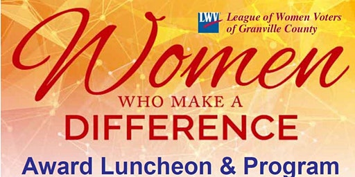 Women Who Make a Difference Award Luncheon and Program