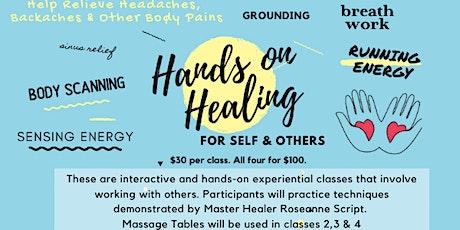 Hands on Healing (4 Part Class Series) tickets