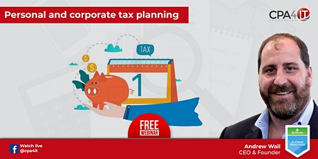 Personal and Corporate Tax Planning tickets