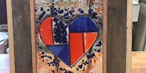 Mosaic Heart Fused Glass Class