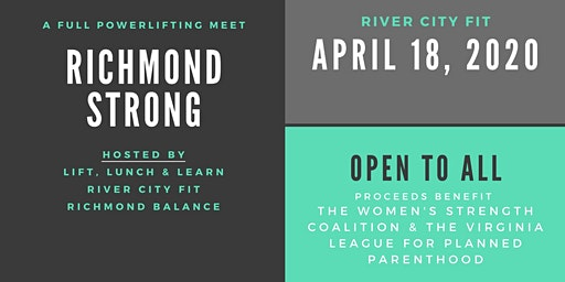 Richmond Strong: A full powerlifting meet open to all!