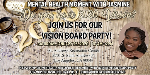 Mental Heath Moment with Jasmine Vision Board Party