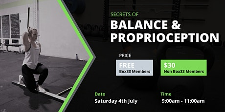 Balance & Proprioception tickets