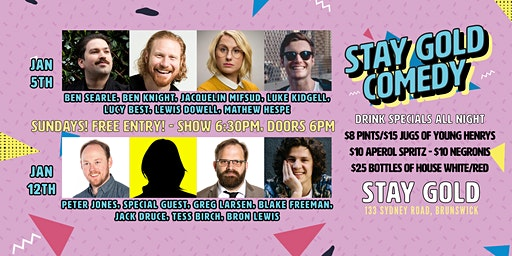 Free Comedy Sundays @ Stay Gold, Brunswick!