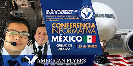 Conferencia Informativa de American Flyers en la CIUDAD de MÉXICO, MÉXICO boletos