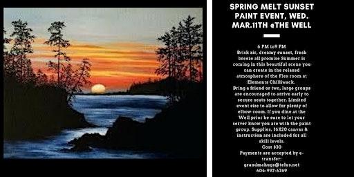 Spring Melt Sunset