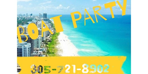 Miami Boat Party Jet-ski included + Open Bar & Party bus