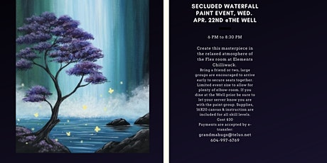 Secluded Waterfall Paint Event tickets