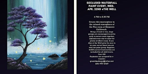 Secluded Waterfall Paint Event