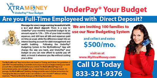 UnderPay™ Your Budget: The Easiest Way to Generate $500 to $2,000+/month.