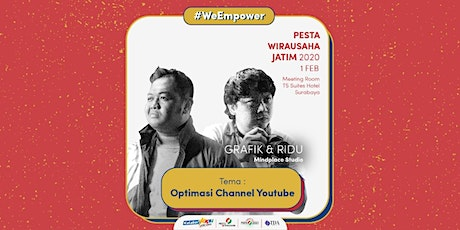Workshop Optimasi Channel Youtube oleh Grafik dan Ridu - Mindplace Studio tickets