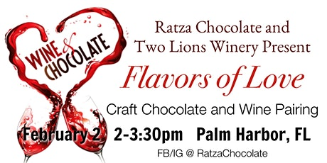 Craft Chocolate and Wine Pairing with Ratza Chocolate and Two Lions Winery tickets