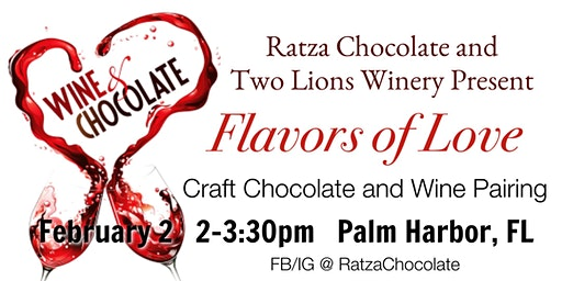 Craft Chocolate and Wine Pairing with Ratza Chocolate and Two Lions Winery