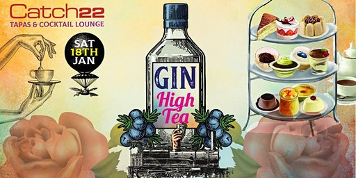 CATCH22 WHITE KNUCKLE GIN HIGH TEA