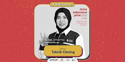 Workshop Teknik Closing Dalam 15 Menit bersama Nurul Umama (Uun)