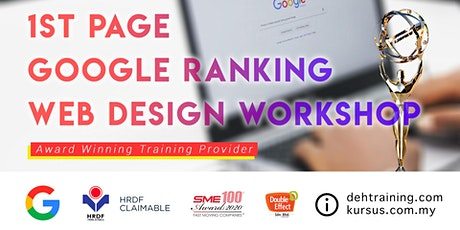 Awards Winning SEO Course – 1st Page Google Ranking Web Design Workshop (Feb'2020) tickets