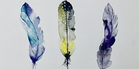 Water Colour Feathers  entradas