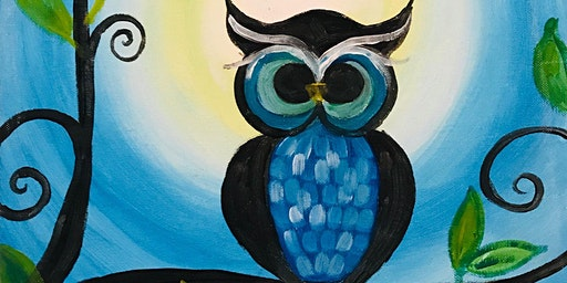 Paint Night in Canberra: Blue Owl