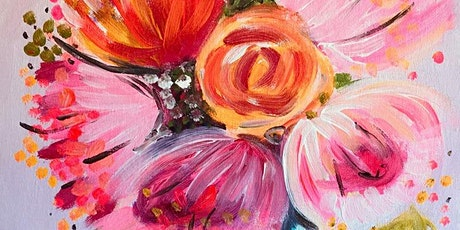 Paint Night in Canberra: Bunch of Flowers tickets