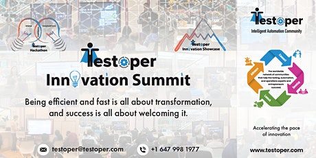 Testoper Innovation Summit (Intelligent Automation Hackathon and Showcase) tickets