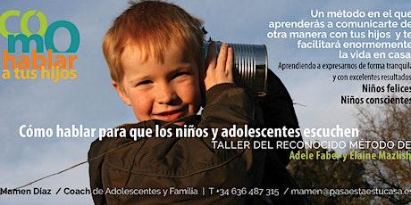 """Charla/Presentación  Programa """"Cómo hablar a tus hijos"""" entradas"""