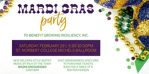 Mardi Gras Party - Growing Resiliency, INC