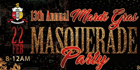 13th Annual Mardi Gras Masquerade Party tickets