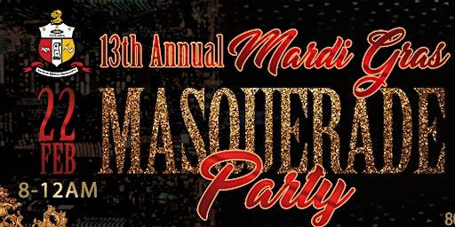13th Annual Mardi Gras Masquerade Party